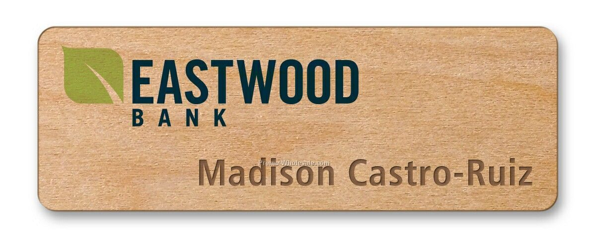 "1-1/4""x3-1/2"" Goodkind Campfire Wood Badge"