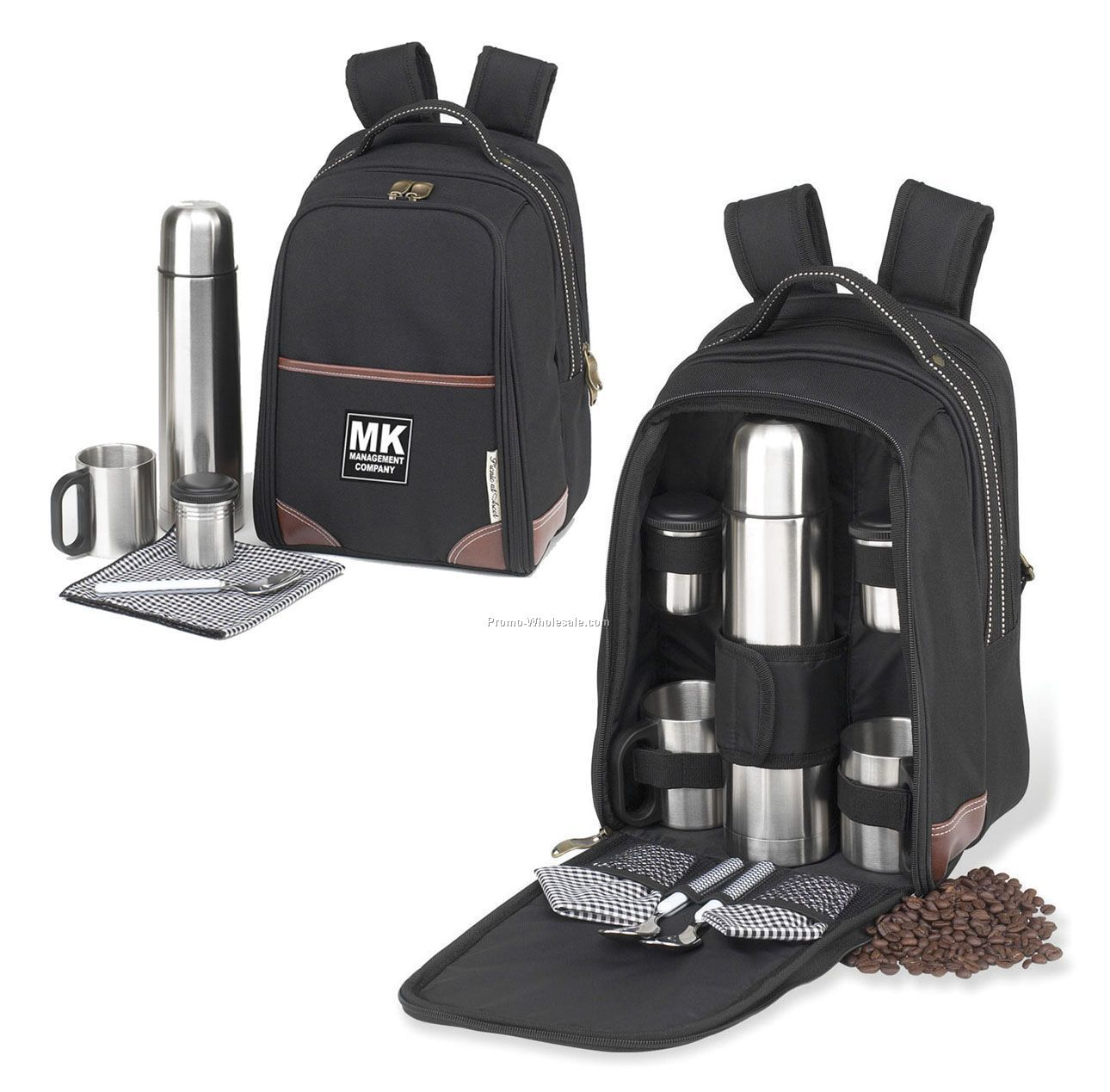 "14""x10""x7"" Coffee Backpack For Two"