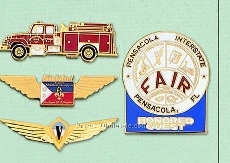 "2"" Custom Cloisonne Badge / Larger Pin"