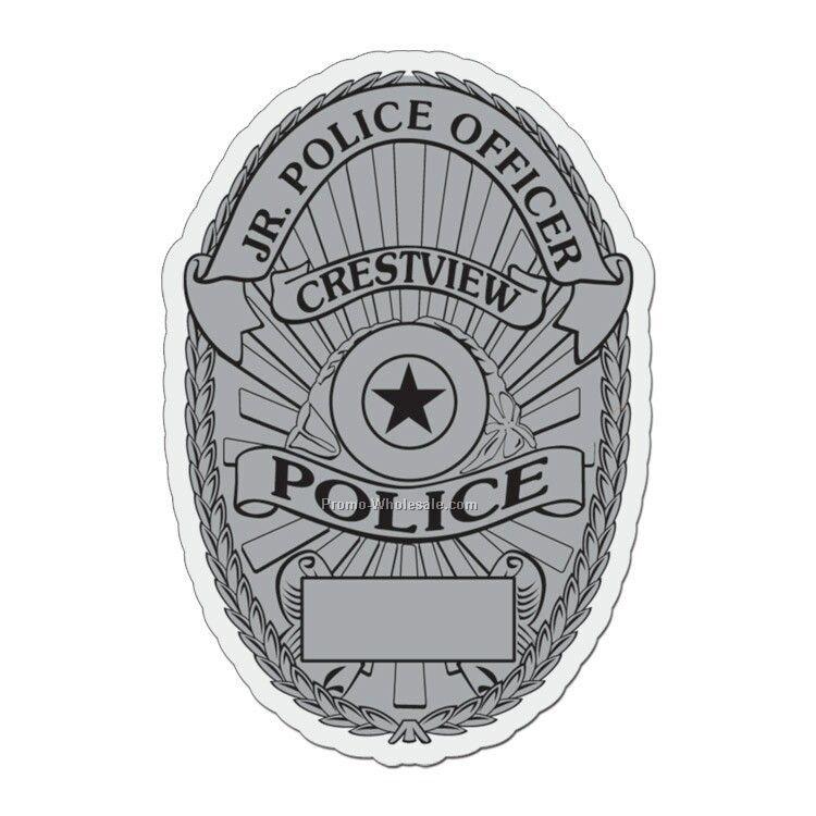"3""x2"" Police Badge Plastic Badge"