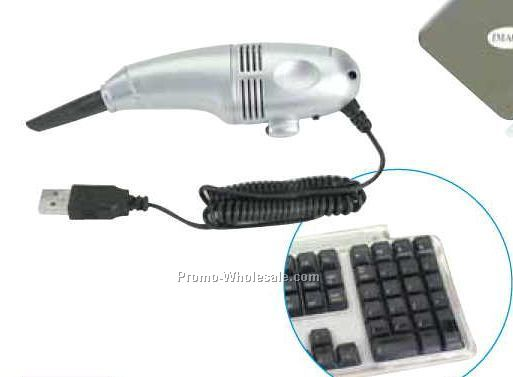 "5-1/2""x1-1/2"" USB Mini Vacuum Cleaner W/ LED Light"