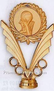 """6"""" Plastic Casting W/ 2"""" Medallion Insert W/ 5 Rings"""