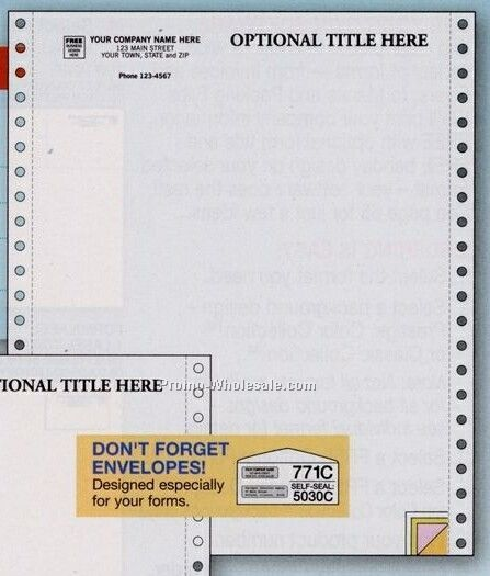 "8-1/2""x11"" 4 Part Parchment Multipurpose Form"