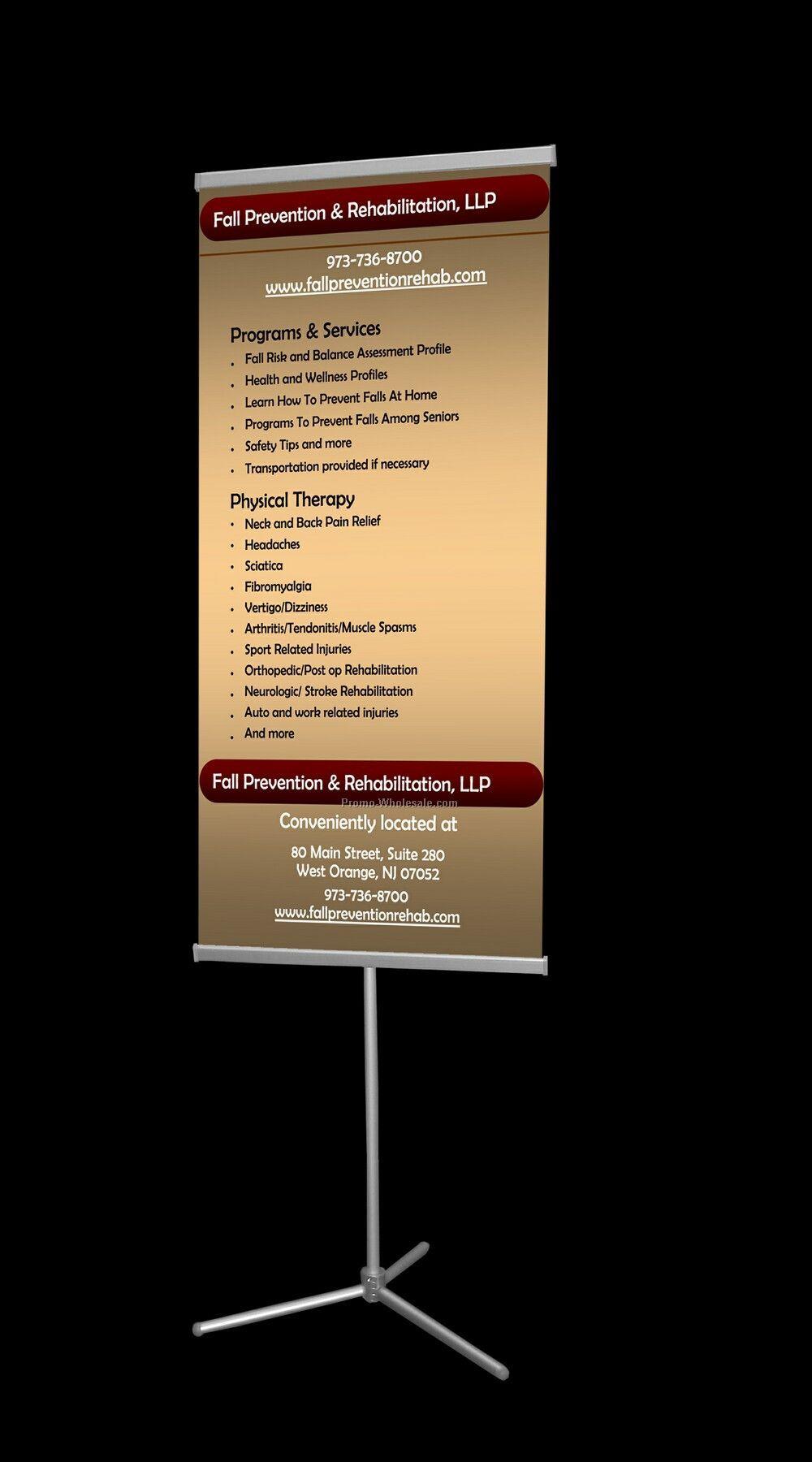 Adjustable Banner Stand/1 23 5