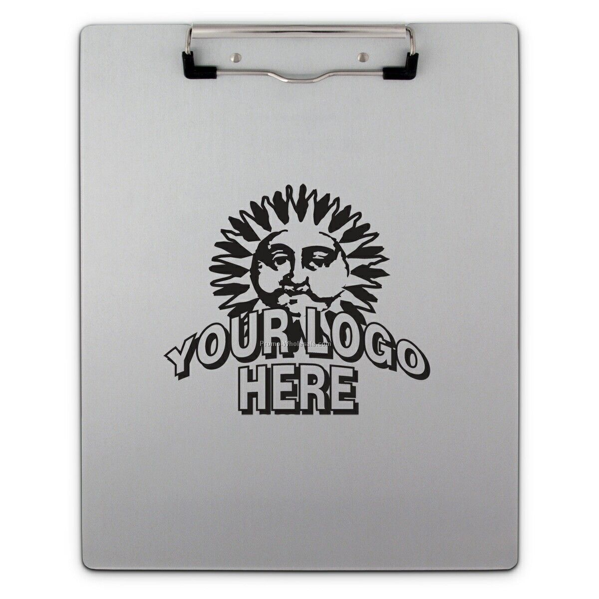 Aluminum Letter Size Clipboard With Low Profile Clip