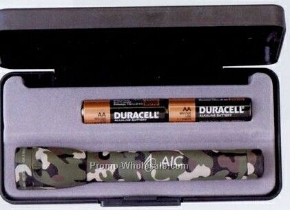 Camouflage AA Mini Mag-lite Flashlight