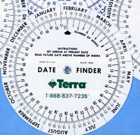 """Circular 4"""" Date Finder Calculator"""