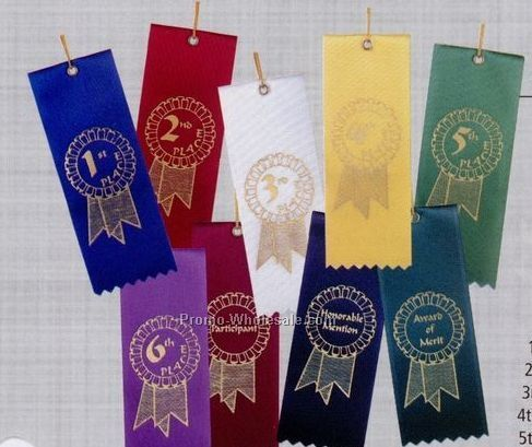 Economy Stock Ribbon (Card & String) - 3rd Place