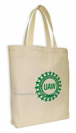 Gusseted Canvas Tote Bag
