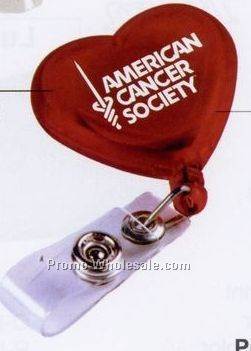 Heart Retractable Badge Holder - Next Day Service