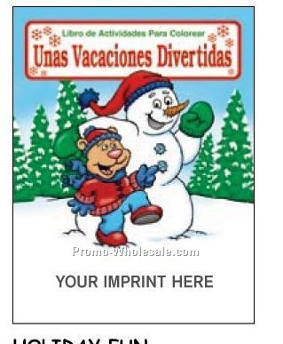 Holiday Fun - Unas Vacaciones Divertidas Spanish Coloring Fun Pack