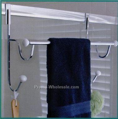 over the shower door towel racks 3