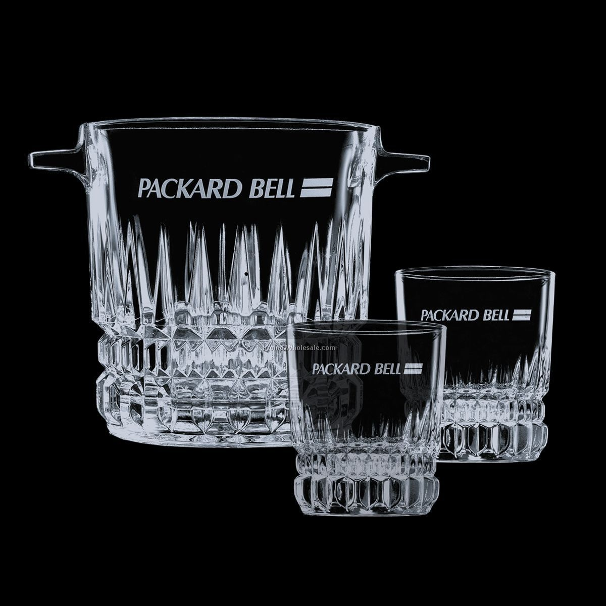 Imperial Ice Bucket & 4 On-the-rocks Glasses
