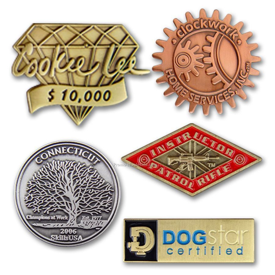 Lapel Pins Designs Lapel Pin With Die Struck 2-d