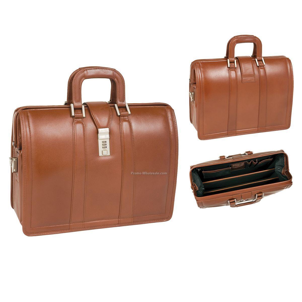 Morgan Leather Litigator Laptop Brief