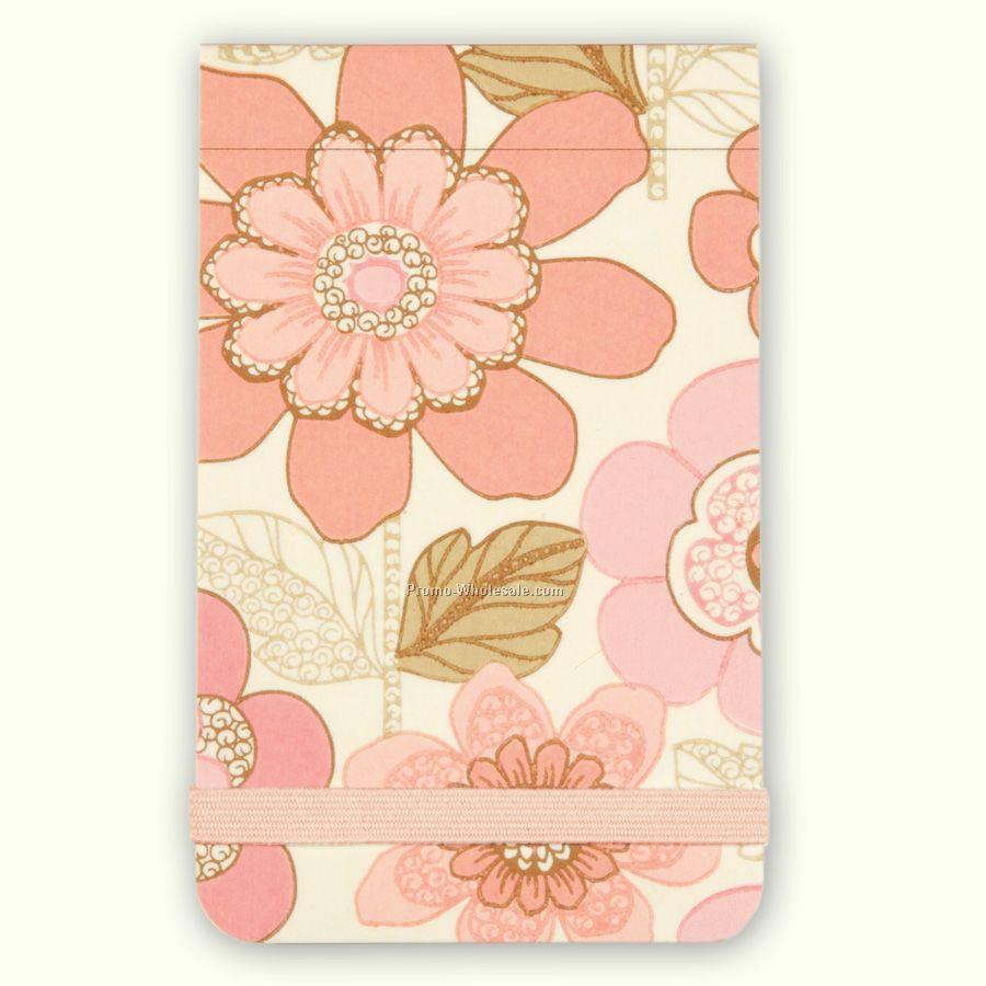 Pink Wallflowers Mini Journal - 6-pack