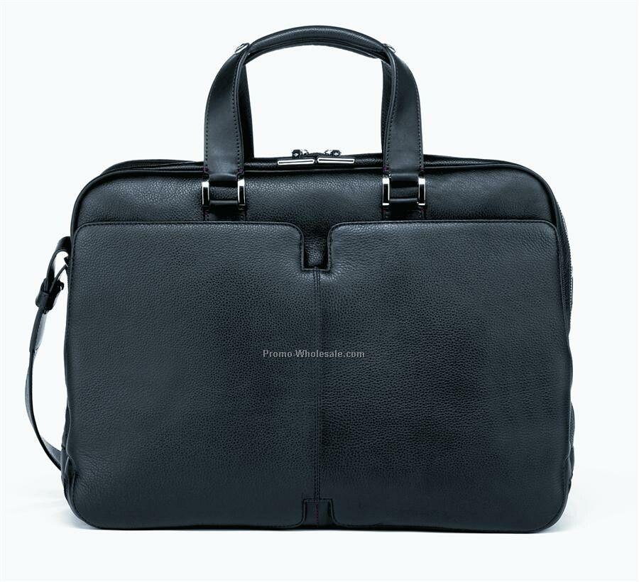 High Tech Leather Briefcase Laptop Organizer