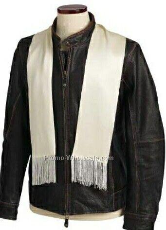 Wolfmark 100% Silk Aviator Scarf - Ivory