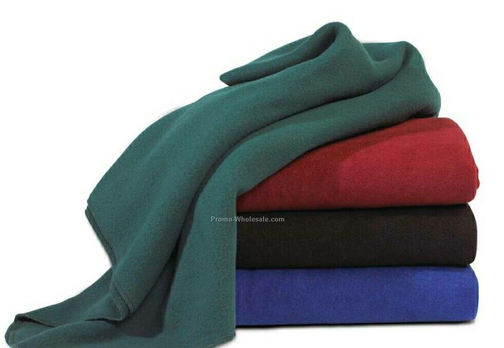 Wolfmark Royal Blue Eco Fleece Blanket