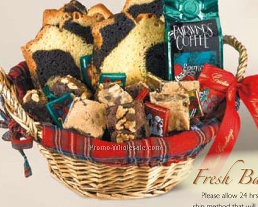 """""""fresh Baked For Christmas"""" Gift Basket (7-8 Person"""