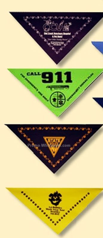 "100% Cotton Import Small Triangle Bandanna - 14""x14""x19"" (Screen Printed)"