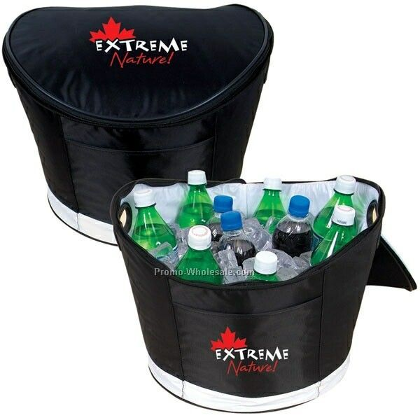 "13"" Dia. X 10"" Cooler Tub With Zippered Lid (Not Imprinted)"