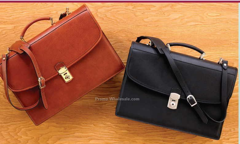 Business Leather Barrister Briefcase