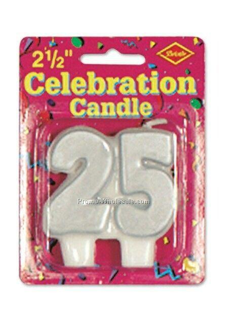 2 1 Celebration Silver 25 Candle