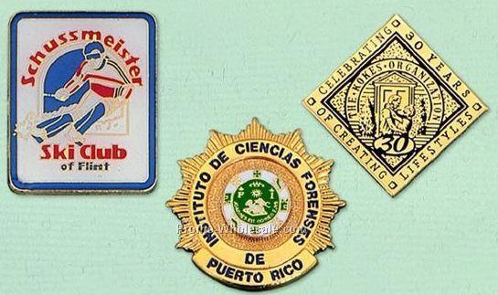 "2-1/2"" Custom Cloisonne Badge / Larger Pin"