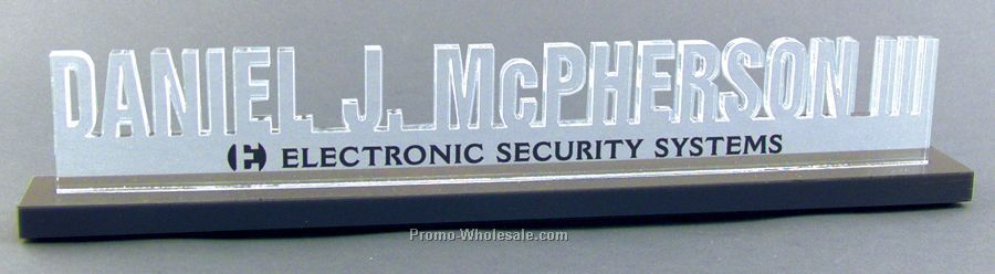 "2.5"" X 14"" Custom Acrylic Desk Nameplate"