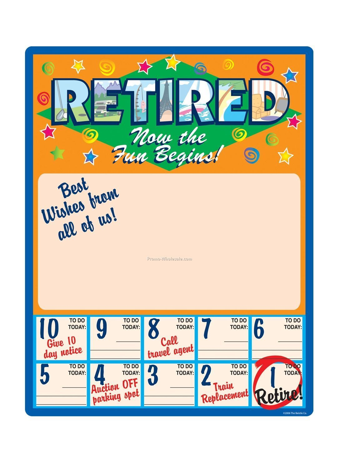 """23""""x18"""" Retired Now The Fun Begins Retirement Countdown Partygraph ..."""