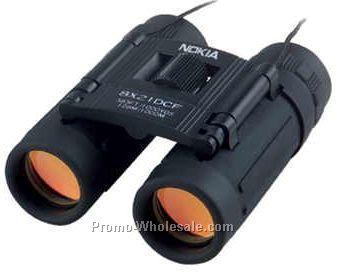 """3-1/2""""x2-3/8"""" 8x21 Dcf Black Binoculars"""