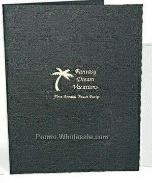"4""x6"" Black Horizontal Portrait Folder"