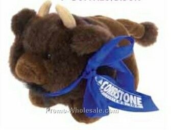 "7"" Stock Stuffed Plush Buffalo/ Bison"
