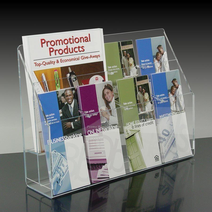 8-pocket Brochure Holder With Adjustable Pockets