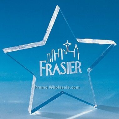 Acrylic Star Paperweight (Engraved)