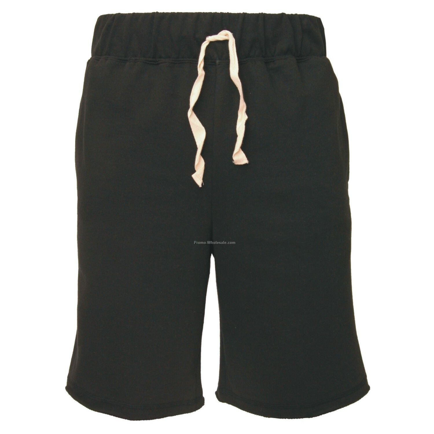 Adults` Black First Place Fleece Shorts With 2 Side Pockets (S-xl)