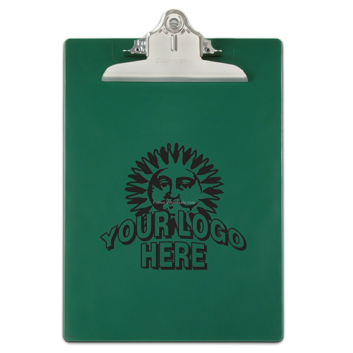 Antimicrobial Recycled Plastic Clipboard - Green