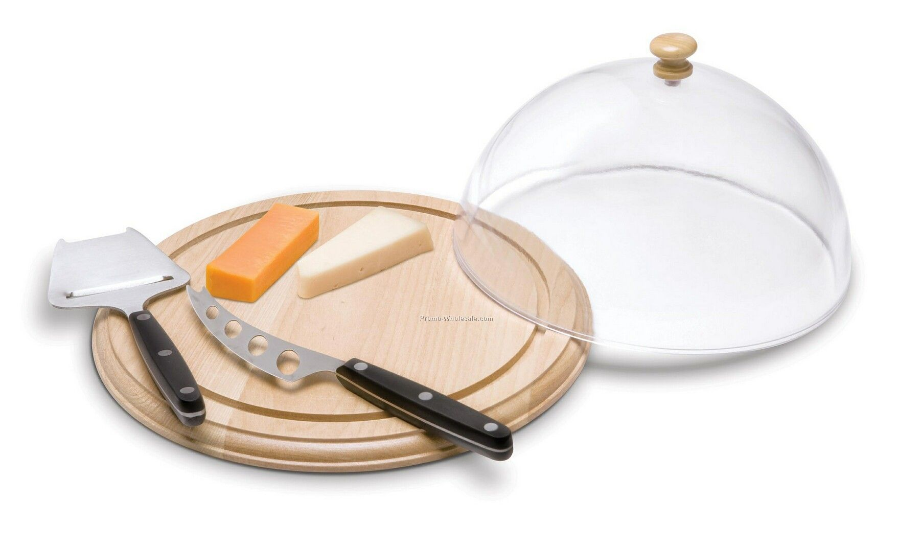 Cheese Board With Cover & 2 Knives