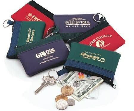 Coin & Key Zip Purses (Fun Colors)