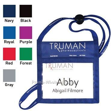 Double-play Nametag Pouch W/ Cord