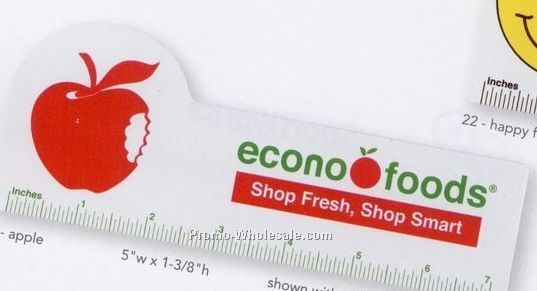 "Econ-o-line 7"" Shaped Ruler (Apple)"