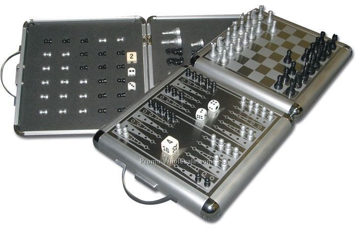 Extra Large Magnetic Chess/Checkers/Backgammon Set