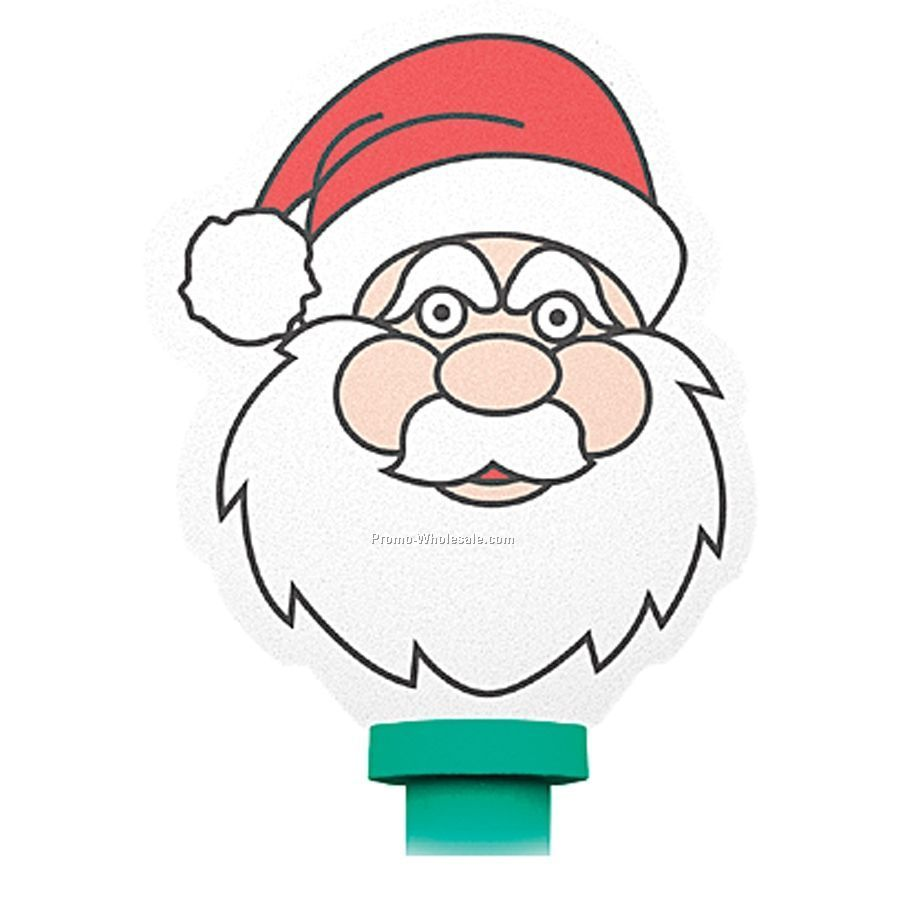 Foam Top Bendy Pens - Santa