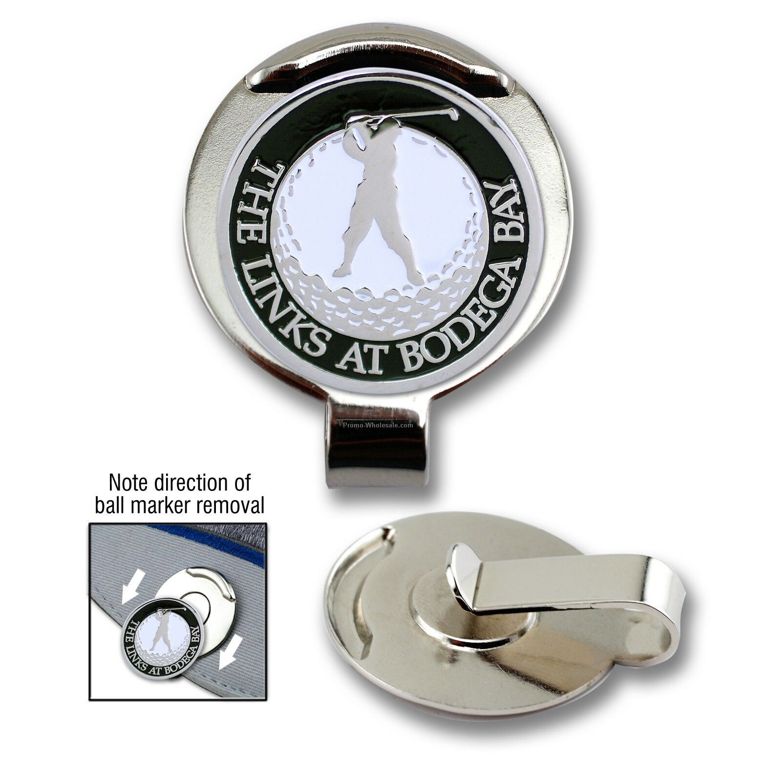 Golf Hat Clip With Custom Ball Marker (3 4