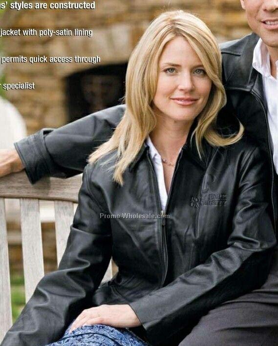 Ladies Hawthorne Black Leather Jacket (S-xl),Wholesale china