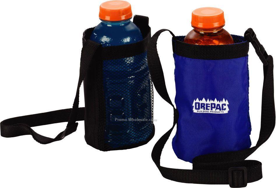 Large Water Bottle Holder With Shoulder Strap