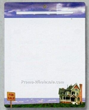 Magnetic Memo Board With House & Sky Realtor Art Front Stock Layout