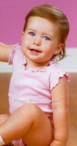 Rabbit Skins Infant Girls Lap Shoulder Creeper (Newborn-18m)