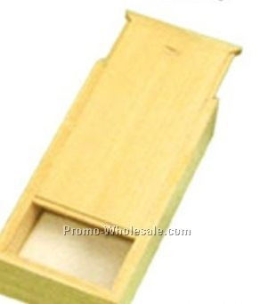 Rectangle Wooden Box W/ Sliding Drawer